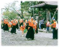 浅鹿野棒踊りの写真